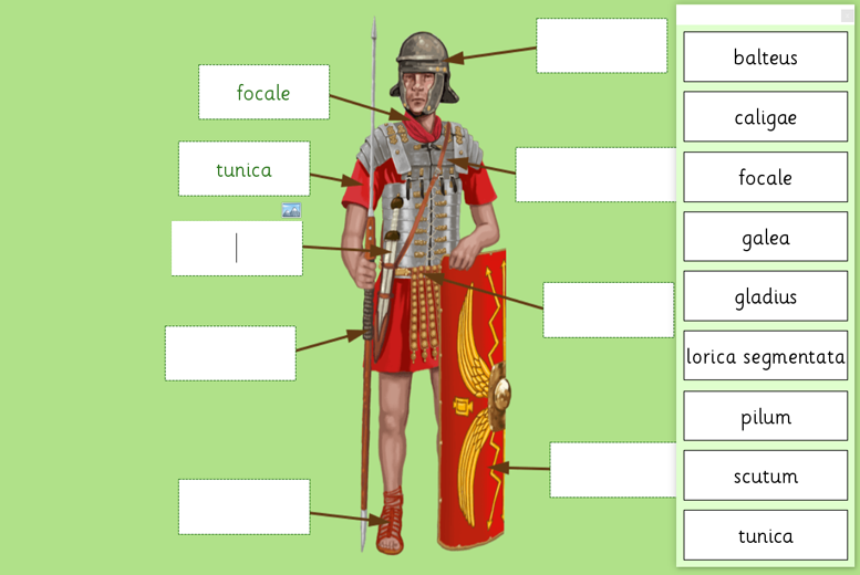 roman soldier labeling crick software