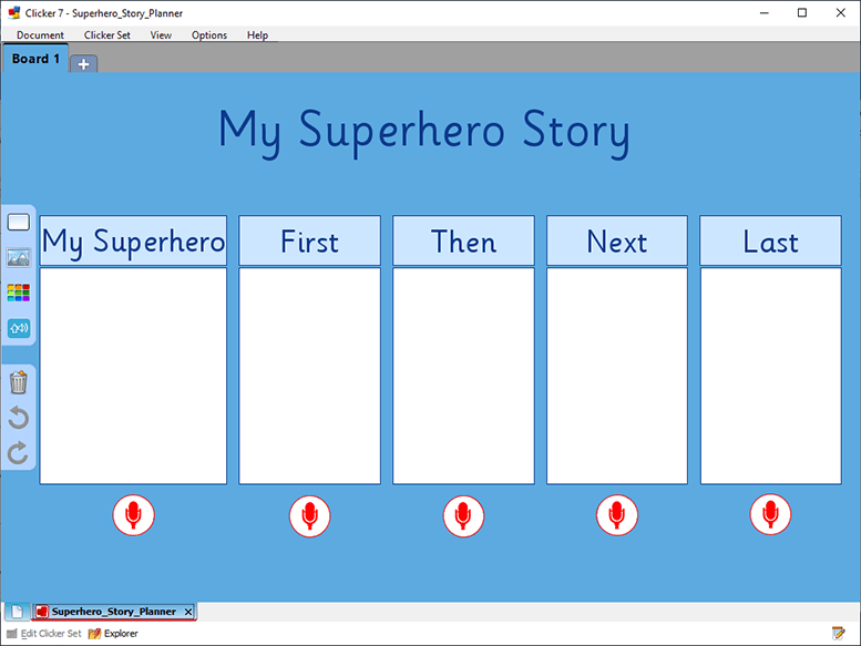 US Superhero Storyboard
