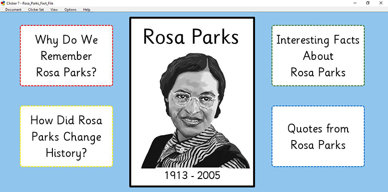 Rosa Parks Fact File (Clicker)