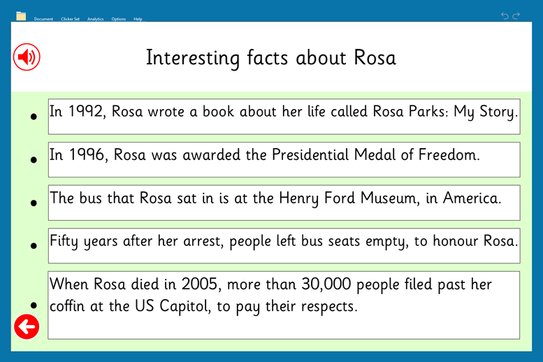 Black History Month (new images)_Rosa Parks fact file 2
