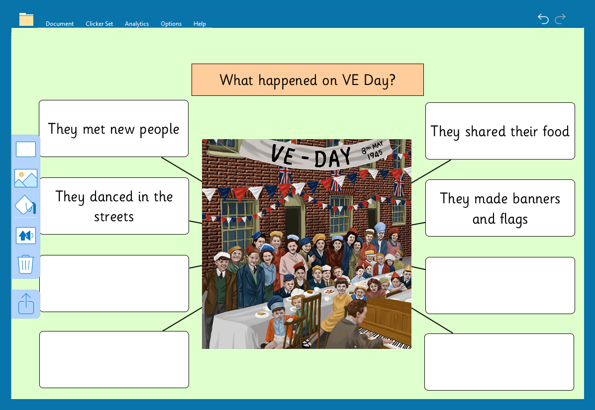 VE day - Clicker Board